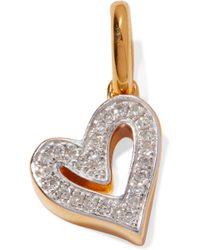 Monica Vinader - Alphabet Heart Gold Vermeil Diamond Pendant - Lyst