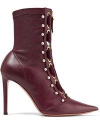 Altuzarra - Elliot Embellished Leather Ankle Boots - Lyst