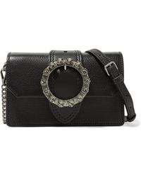 11c1c67c151e Miu Miu - Miu Lady Embellished Smooth And Textured-leather Shoulder Bag -  Lyst