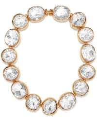 Kenneth Jay Lane - Gold-plated Crystal Necklace - Lyst