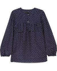 J.Crew | Dorito Printed Cotton And Silk-blend Voile Blouse | Lyst