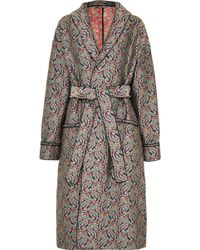 ALEXACHUNG - Belted Jacquard Coat - Lyst