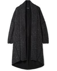 Akris - Asymmetric Cashmere And Wool-blend Cardigan - Lyst