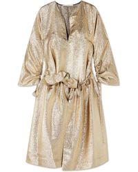 Stella McCartney - Gali Ruffled Gathered Lurex Dress - Lyst