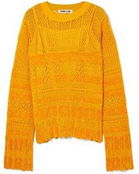 McQ - Pointelle-knit And Chenille Top - Lyst