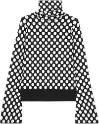 House of Holland | Polka-dot Jacquard-knit Turtleneck Jumper | Lyst