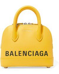 Balenciaga - Canary Yellow Ville Xxs Leather Cross Body Bag - Lyst