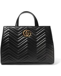 Gucci - Gg Marmont Medium Quilted Leather Tote - Lyst