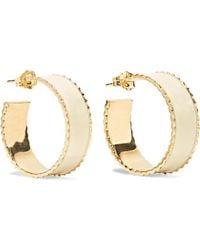 Alison Lou - Lasagna Small Enameled 14-karat Gold Hoop Earrings - Lyst