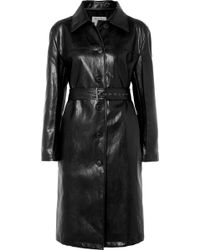 we11done - Belted Faux Leather Coat - Lyst