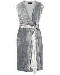J.Crew - Frida Velvet Wrap Dress - Lyst