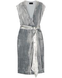 J.Crew - Frida Velvet Wrap Midi Dress - Lyst