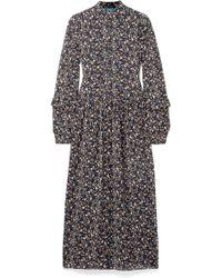M.i.h Jeans - Edith Floral-print Silk-georgette Maxi Dress - Lyst