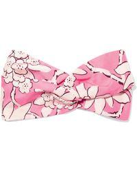Valentino - Printed Silk-twill Headband - Lyst