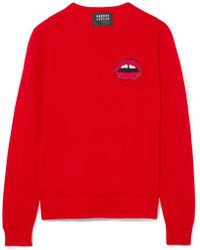 Markus Lupfer - Tracy Sequin-embellished Merino Wool Sweater - Lyst