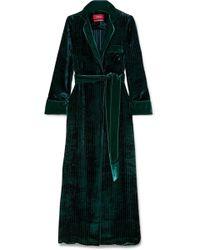 F.R.S For Restless Sleepers - Roda Belted Velvet Robe - Lyst