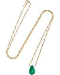 Anita Ko - 18-karat Gold Emerald Necklace - Lyst