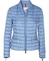 Moncler - Ribbed Knit-trimmed Quilted Shell Jacket - Lyst