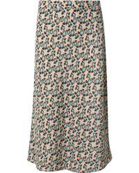 Marni - Plumeria Floral-print Crepe Midi Skirt - Lyst