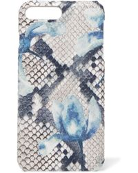 The Case Factory - Printed Snake-effect Leather Iphone 7 And 8 Plus Case - Lyst
