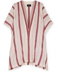 Su Paris - Buka Striped Cotton-gauze Tunic - Lyst