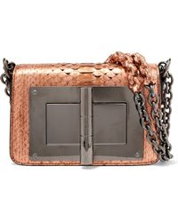 Tom Ford | Natalia Small Metallic Python Shoulder Bag | Lyst