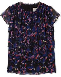Jason Wu - Floral-print Silk-crepon Top - Lyst