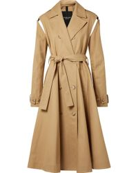 CALVIN KLEIN 205W39NYC - Convertible Double-breasted Cotton-twill Trench Coat - Lyst