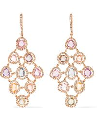 Amrapali - Blossom 18-karat Gold, Sapphire And Diamond Earrings - Lyst