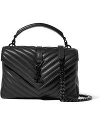 Saint Laurent - University Medium Quilted Leather Shoulder Bag - Lyst