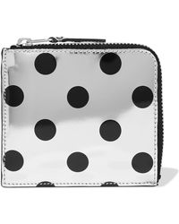 Comme des Garçons - Polka-dot Metallic Leather Wallet - Lyst