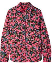 Marc Jacobs - Floral-print Crepe De Chine Shirt - Lyst