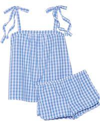 Three J Nyc - Sadie Gingham Cotton-poplin Pajama Set - Lyst
