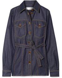 Victoria, Victoria Beckham - Belted Denim Shirt - Lyst