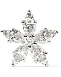 Maria Tash - Snowflake 18-karat White Gold Diamond Earring - Lyst