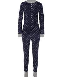 Sleepy Jones - Della Polka-dot Cotton-jersey Pajama Jumpsuit - Lyst