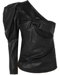 Isabel Marant - Noop One Shoulder Leather Top - Lyst