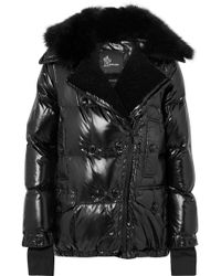 d337f0301 Moncler Grenoble Bruche Belted Two-tone Quilted Shell Ski Jacket in ...
