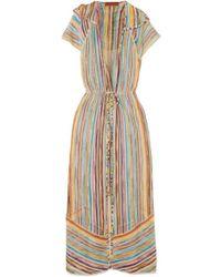 f1af095f7da455 Missoni Mare Belted Crochet-knit Midi Dress in White - Lyst