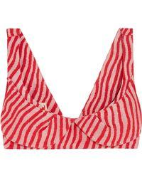 Marni | Striped Cotton-blend Bra Top | Lyst
