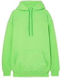 Balenciaga - Oversized Cotton-blend Jersey Hooded Top - Lyst