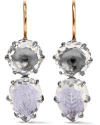 Larkspur & Hawk | Caterina Rhodium-dipped Quartz Earrings | Lyst
