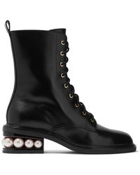 Nicholas Kirkwood - Casati Embellished Leather Boots - Lyst