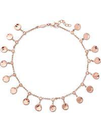 Jacquie Aiche - 14-karat Rose Gold Diamond Anklet - Lyst