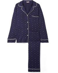 Eberjey - Sleep Chic Printed Stretch-jersey Pyjama Set - Lyst