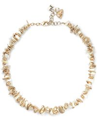 Rosantica - Gold-tone Mother-of-pearl Necklace Gold One Size - Lyst