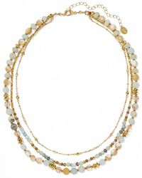 Chan Luu - Gold-plated, Amazonite And Bead Necklace - Lyst