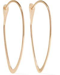 Melissa Joy Manning - 14-karat Gold Hoop Earrings - Lyst