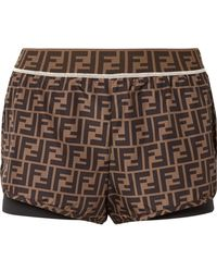Fendi - Roma Printed Shell And Stretch-jersey Shorts - Lyst