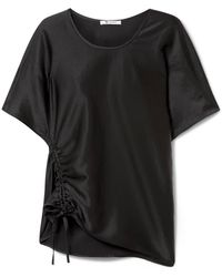 T By Alexander Wang - Oversized Ruched Satin Top - Lyst